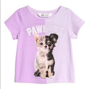 NWT H&M Purple Short Sleeve Shirt Top Girl 18-24mo
